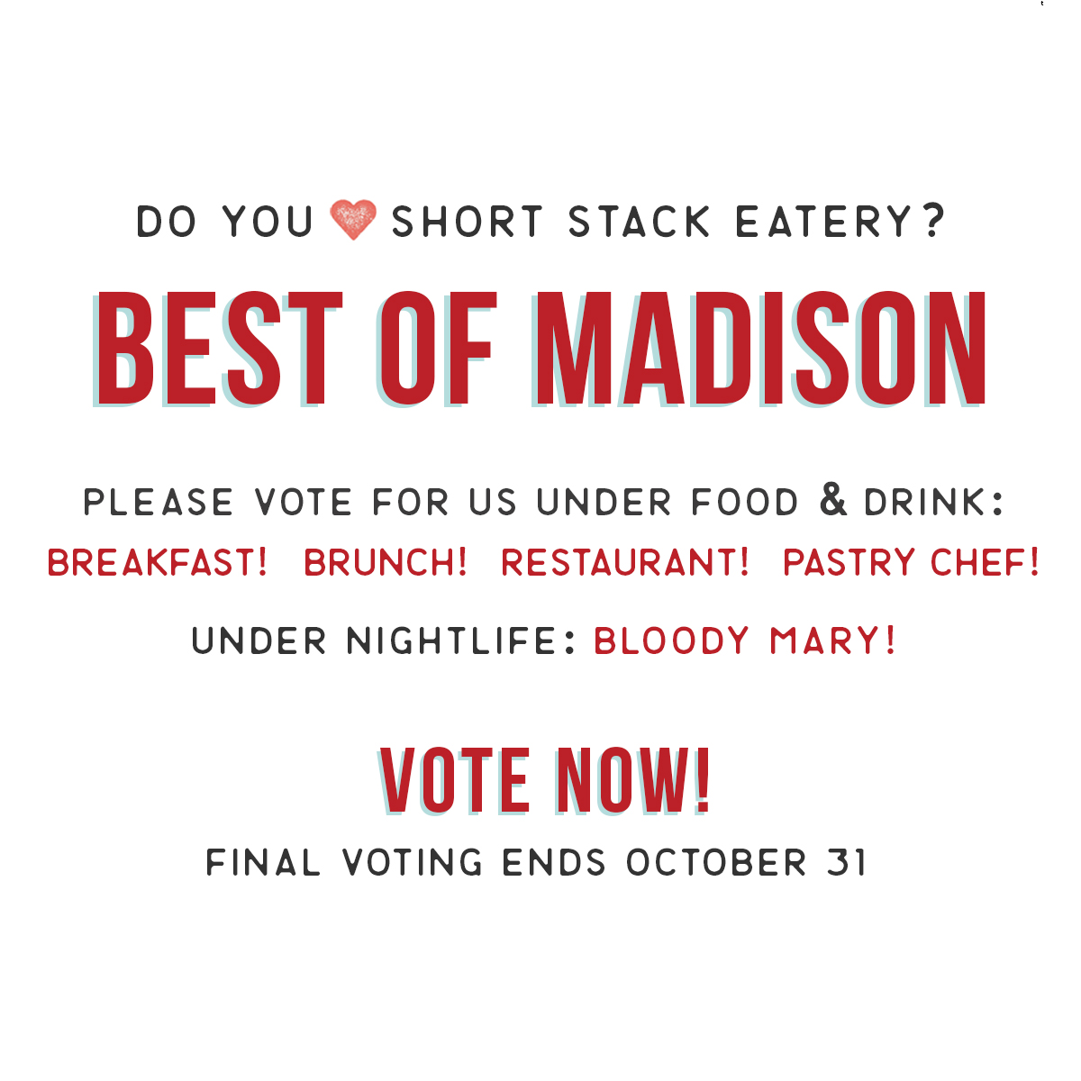 Vote for Short Stack (only if we deserve it)